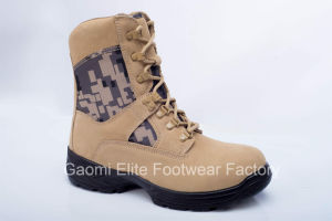 High Cut Beige Cow Suede Safety Boot Military-03 D