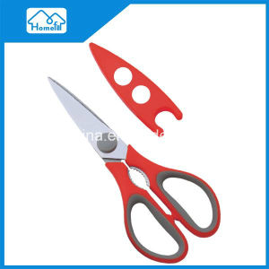 "Hfks81973 LFGB Certificated 8-1/4"" Magnetic Household Scissors Kitchen Scissors with Double Injection Handle"