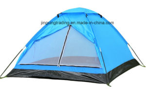 2 Persons Waterproof Polyester Single-Skin Camp Tent (JX-CT017) pictures & photos