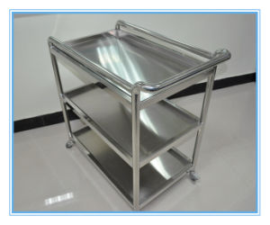 Lab Stainless Steel Three Layer Trolleys pictures & photos