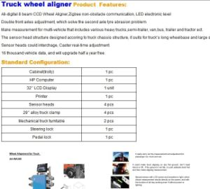 Truck Four Wheel Alignment pictures & photos