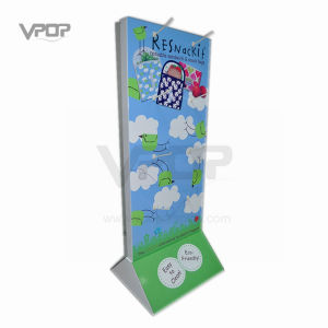 Two Sided Peg Hook Pop Free Standing Display for Bags