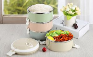 Japanese Style Colorful Stainless Steel Tiffin Box, Lunchbox
