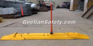 High Density Rubber Safety Pedestrian Traffic Island, Rubber Road Traffic Separator