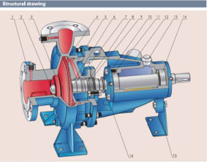 Single Stage End Suction Centrifugal Pump with Ce Certificate pictures & photos