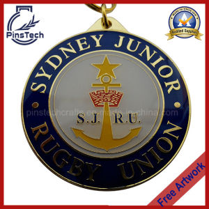 Customized Enamel Medal with Clear Epoxy Coating