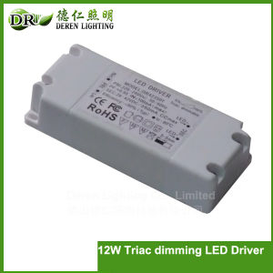 12W LED Driver Triac Dimming Input Voltage: 100-135VAC Deren Lighting