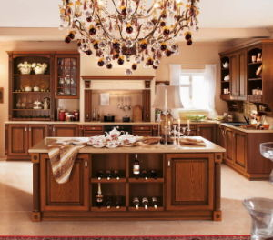 American Style Kitchen Furniture Solid Wood Kitchen Cabinet