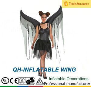 qh 301 inflatable bat wings adult costume demon devil fallen angel halloween fancy dress