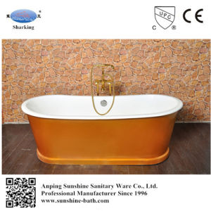 Colored Freestanding Royal Cast Iron Soaking Tub For Project Hotel China