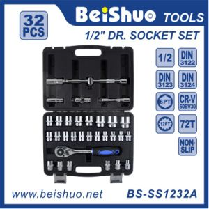 Hand Tool Set Chrome Vanadium Ratchet Socket Set