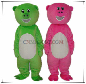 Good Sale Green and Pink Pig Mascot Costume