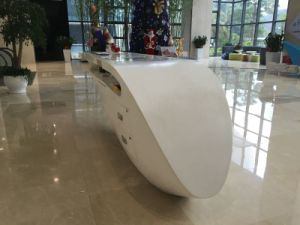 Acrylic Solid Surface Restaurant Reception Desk Furniture pictures & photos