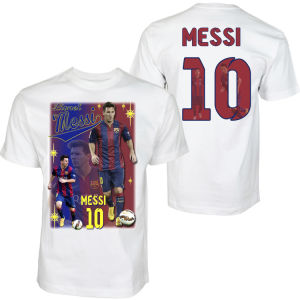 a6117846671 China Messi Barcelona Adult T-Shirt Print Front Back Super Soft ...