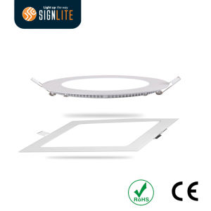 Spring Installation Square or Round 6W/12W/18W/24W Slim LED Downlight/LED Panel Light pictures & photos