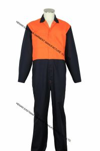 Orange and Black 100% Cotton Coverall Workwear Boiler Suit pictures & photos