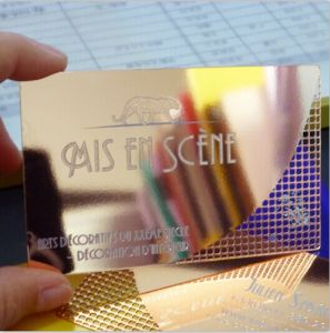 China Mirror Finish Rose Gold Stainless Steel Card China Rose Gold