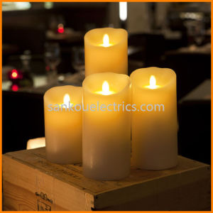 LED Dance Wax Candle with Waving Flame and Timer (LD-6101)