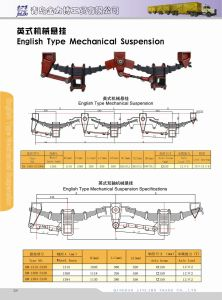 3 Axle 2 Axles English Type Mechanical Suspension pictures & photos