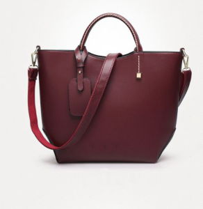 Offering Hot Sell Red Cow Leather Tote for Ladies and Women (H80482)