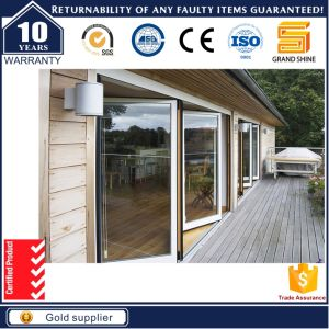 China New Design Double Glazed Folding Door with Exquisite ...
