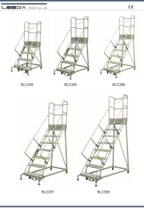 Industrail Steel Rolling Ladders (RLC Series) pictures & photos