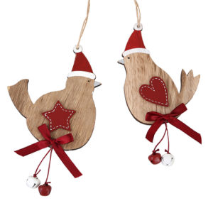 wooden christmas hanging ornament for christmas decoration 2 ass
