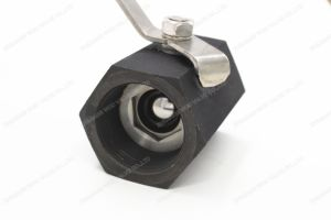 1PC Hex Carbon Steel Floating Wcb Ball Valve pictures & photos