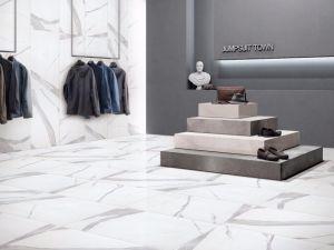 450x900mm Glazed Porcelain Tile Full Body Bianco Carrara