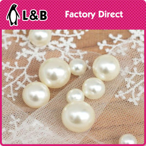 Round White Pearl ABS Plastic Button pictures & photos