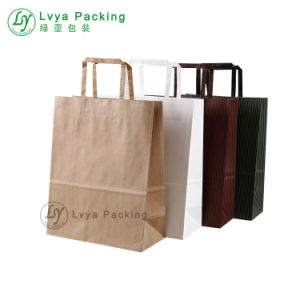 Whole Colorful Customized Printed Kraft Paper Bags With Handles For Food