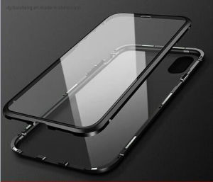 Customized High Precision Aluminum Frame Magneto Tempered Glass Covers for Smart Phone iPhone/Samsung/Huawei Protector Case