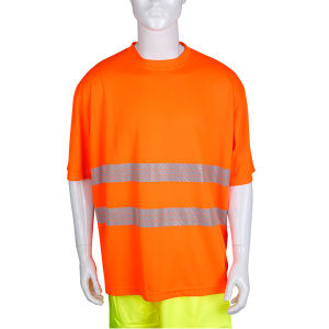 Hi Visibility Safety Workwear Heat Transfer Reflective Tape Polo Shirt