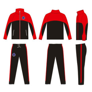 Custom Black and Red Sports Wear Tracksuit with Your Logo pictures & photos
