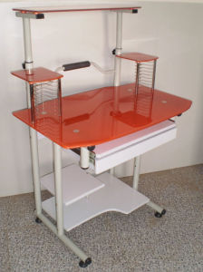 Glass Computer Desk (KA-210 Orange)