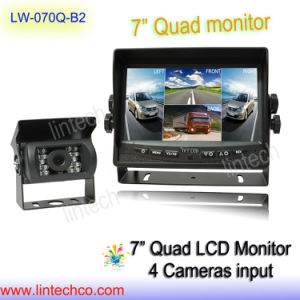 7 Inches Digitail TFT LCD Quad Monitor Backup Rearview Camera System