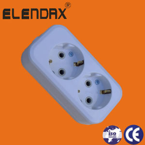 European 2 Way Power Extension Socket with Earth (E8002E) pictures & photos