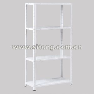 Free Standing Plastic Sprayed Four-Shelves Metal Shelf Garage Storage Rack Display Rack (MS-04) pictures & photos