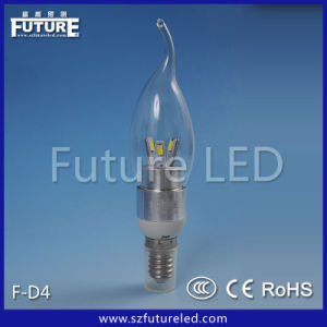 3W Cool White Candle Bulb LED F-D4