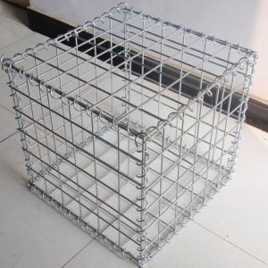 SGS Low Price Black Iron Wire Square Welded Gabion Box