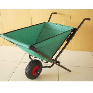 Foldable Wheelbarrow with Poly Tray and Steel Frame
