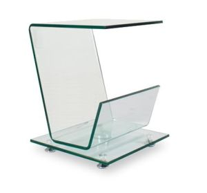 2017 New Clear Glass End Table in Side Table (TB-111)