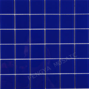China 48X48mm Bule Color Swimming Pool Tile / Paving Crystal ...