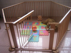 China Nz Pine Wood 6 Sides Baby Playpens With Gate China Baby