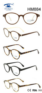 Handmade Custom Vintge Round Rim Acetate Eyeglasses (HM884) pictures & photos