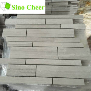 Wood Grain Grey Marble Mosaic Tiles