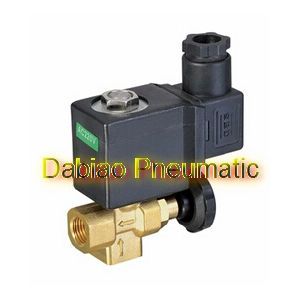 "2/2 Way 1/4"" Thread Direct Acting Brass Material Manual Adjustable Solenoid Valve Water 1PC-Dl-08"