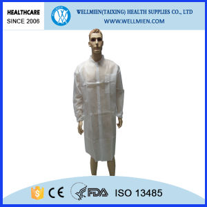 Cheap PP Nonwoven Doctor Lab Coat (WM-C15113)