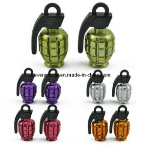 Grenade Tyre Tire Valve Dust Cap Car Motorcycle Bike Scooter Metal Cover pictures & photos
