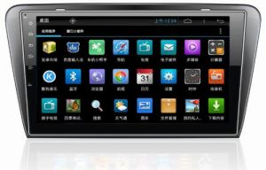 "10.1"" Big Screen Android 4.4 Car Navigation for Skoda Octavia with 1024 * 600 Resolution and DVR Camera Input"